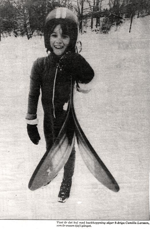 Bild på Camilla Larsson som 9-årig i Björbobacken